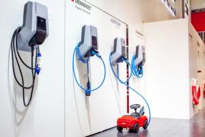 Elektroauto, Mennekes Ladestation, E-Mobilität