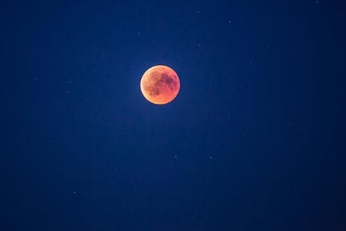 Essen, Beobachtung der Mondfinsrternis