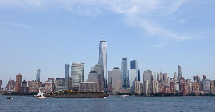 Manhattan-Blick aus New Jersey